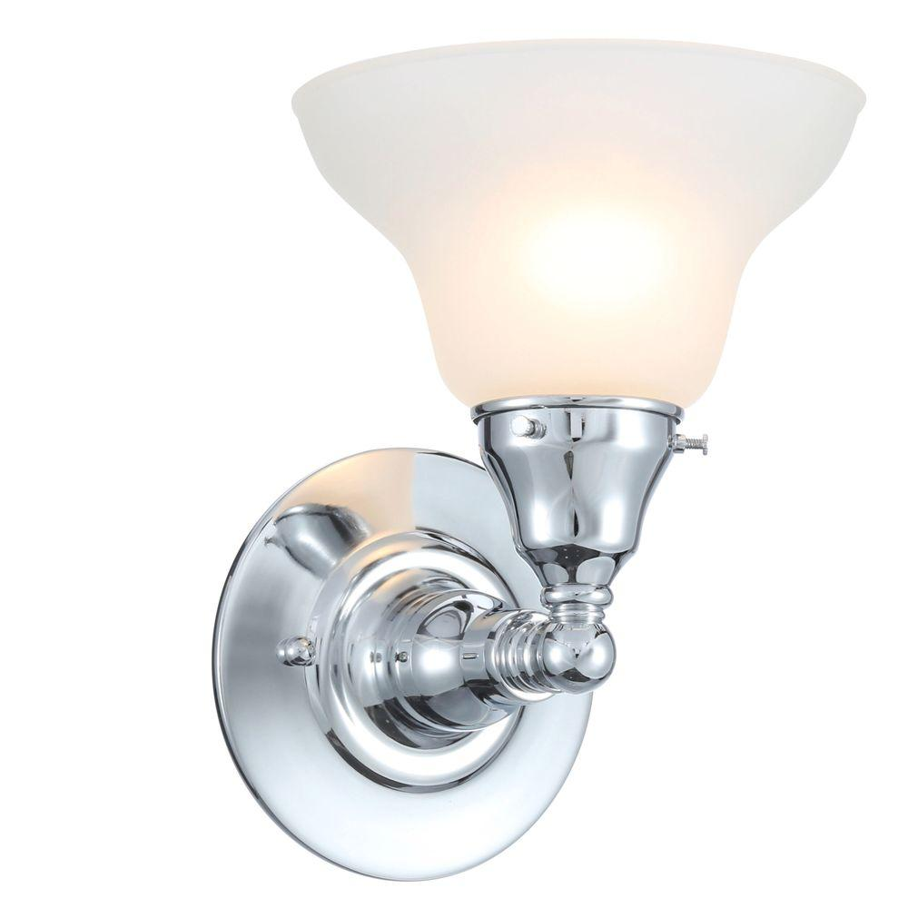 World Imports Asten Collection 1-Light Chrome Wall Sconce