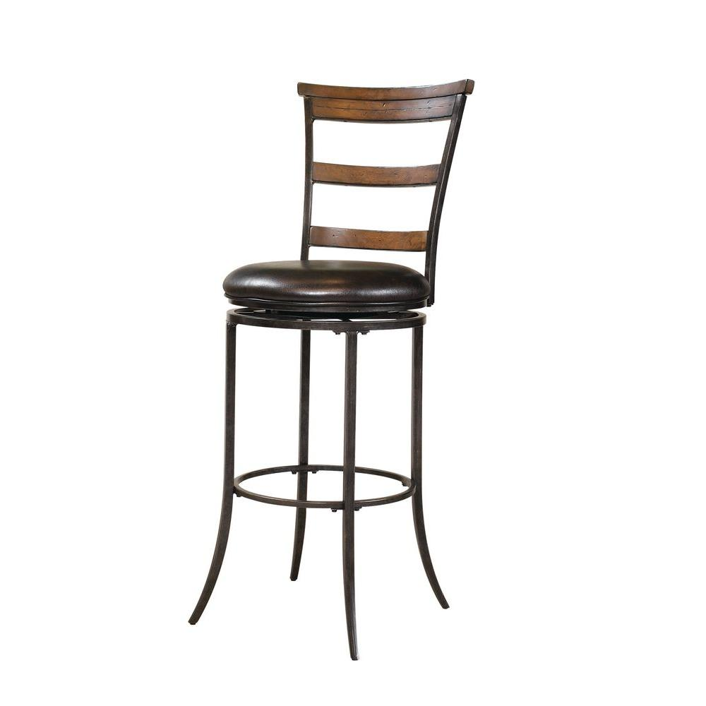 Hillsdale Furniture Cameron Swivel Ladder Back Bar Stool-DISCONTINUED