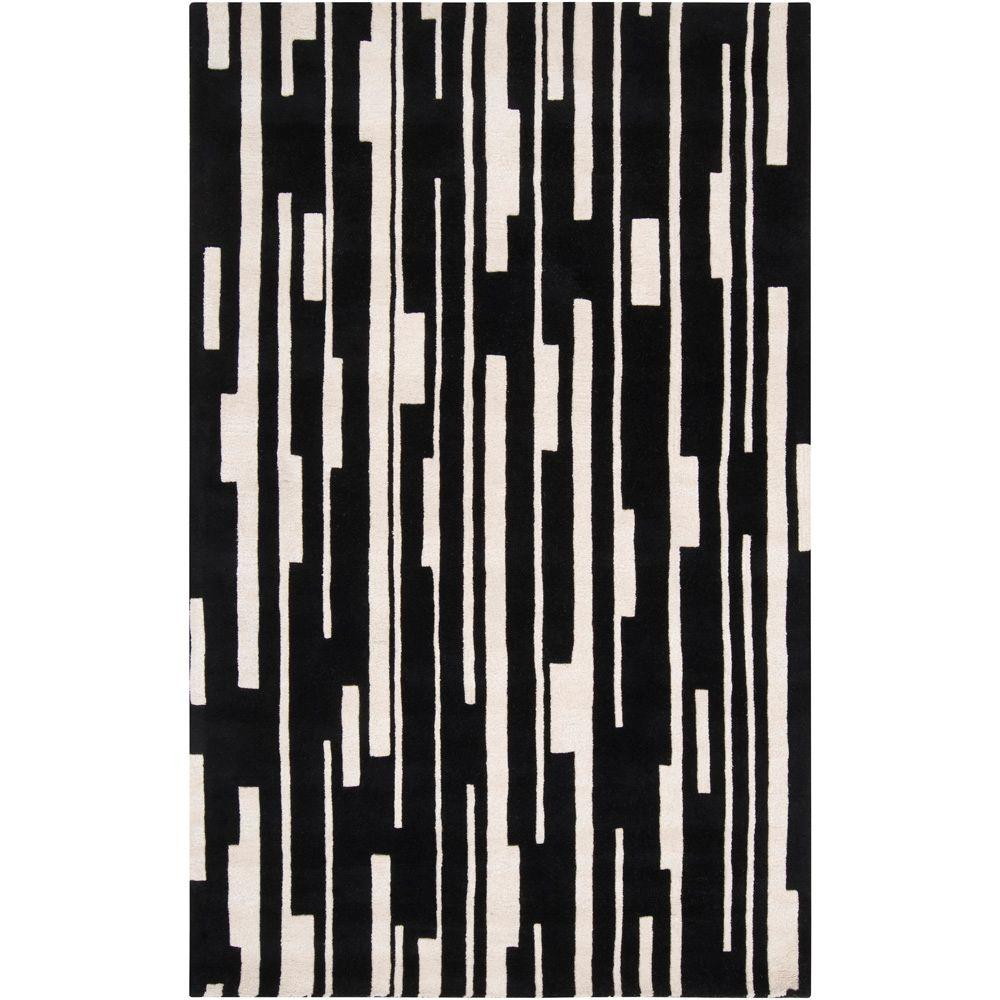 Surya Candice Olson Jet Black 2 ft. x 3 ft. Accent Rug