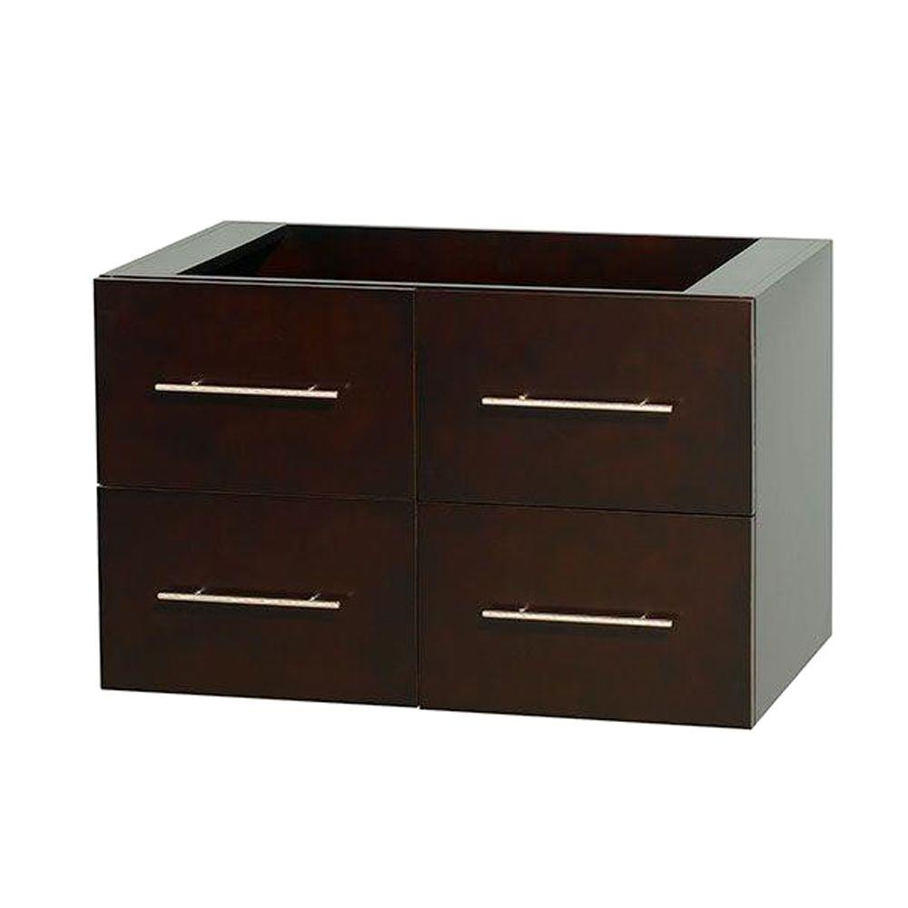 Wyndham Collection Centra 35 in. Vanity Cabinet Only in