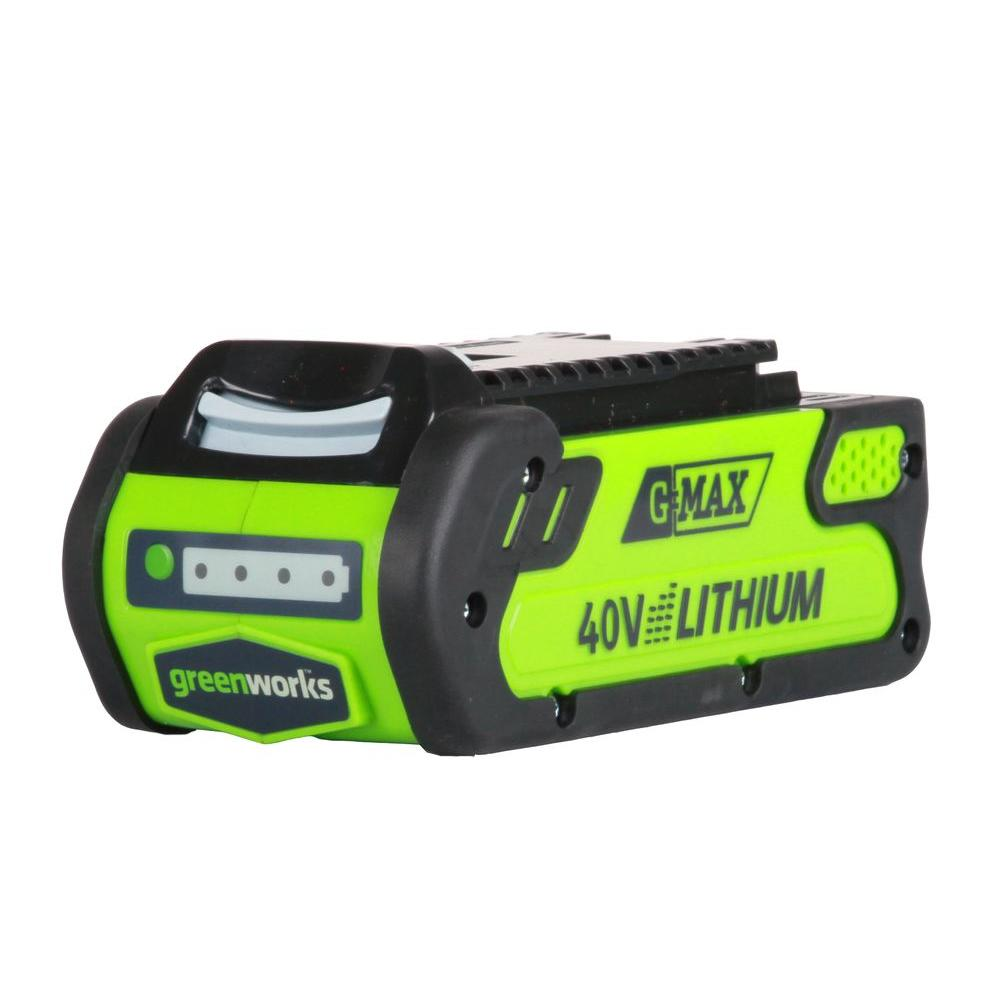 Greenworks 40-Volt 2.0 ah G-MAX Lithium-Ion Battery-GW29462 - The Home Depot