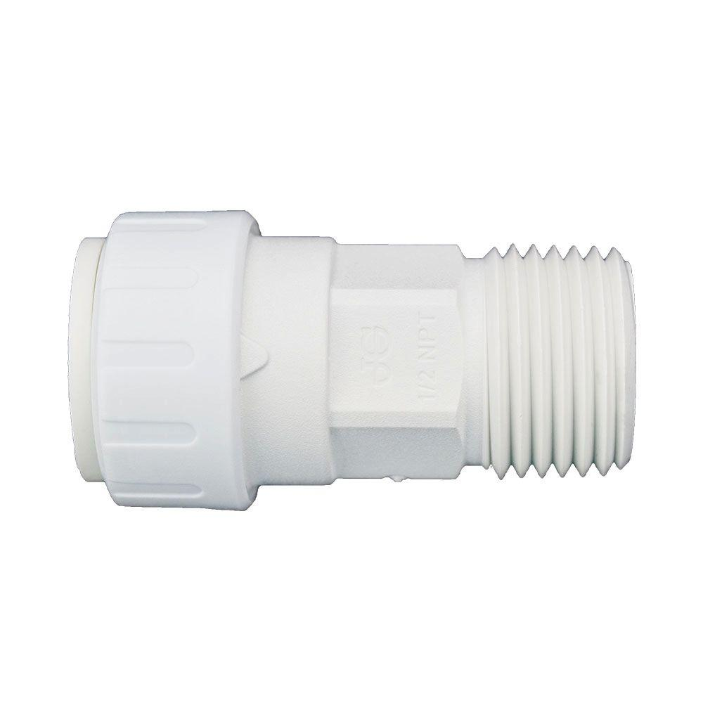 3/8 in. x 1/2 in. Plastic Push-to-Connect Male Connector Contractor Pack