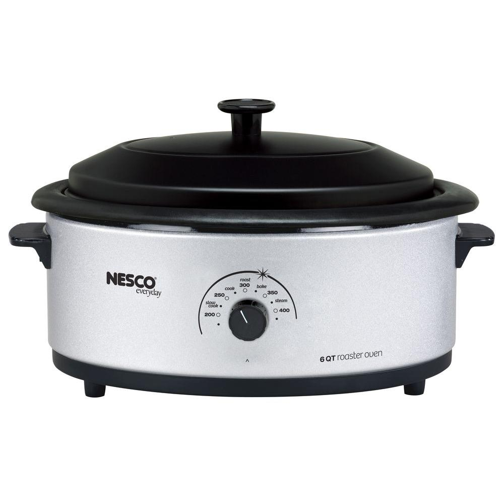 Nesco 6 qt. Roaster Oven in Silver-4816-47 - The Home Depot