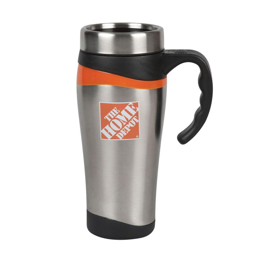 null 16 oz. Orange Wave Tumbler with Handle-DISCONTINUED