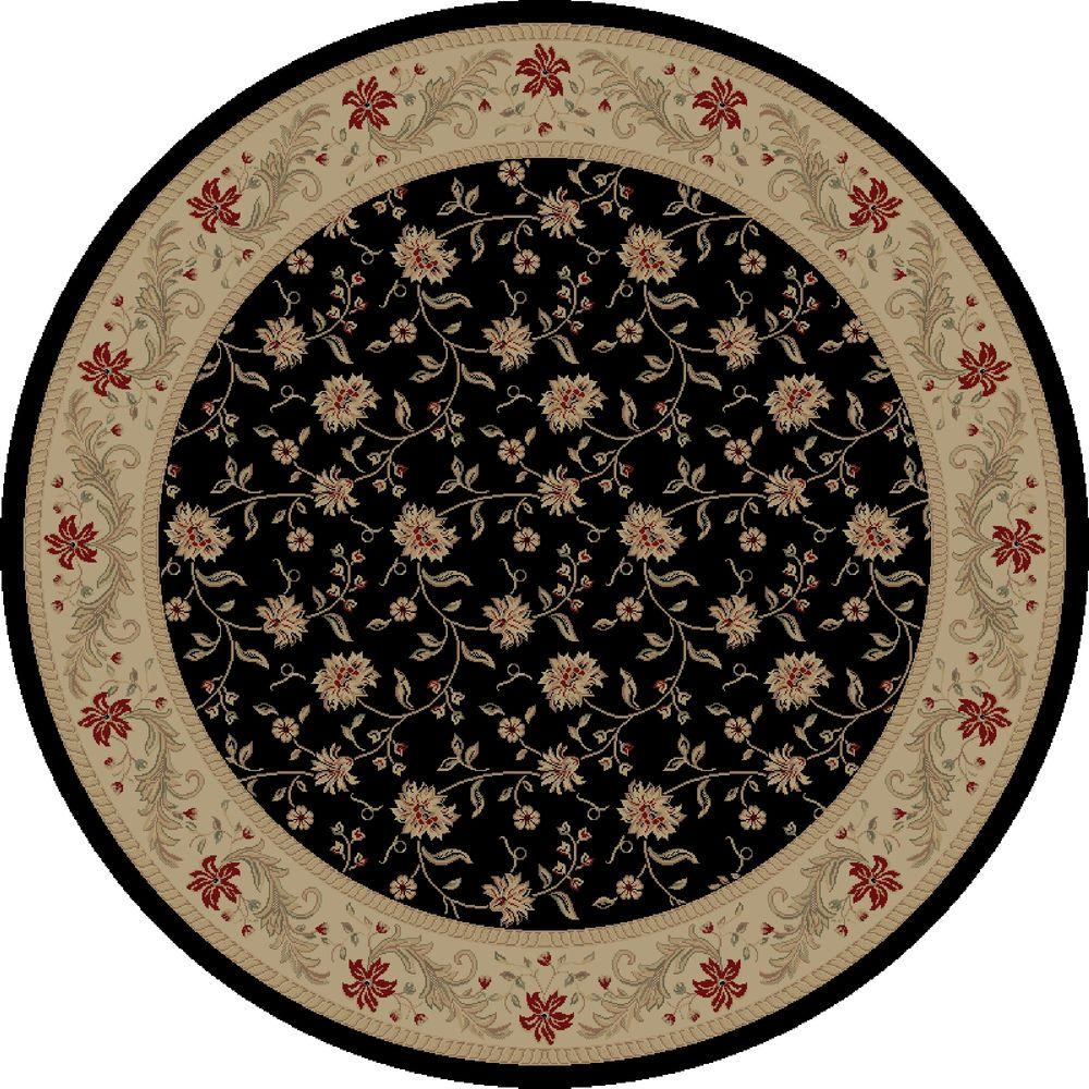 Imperial Serenity Black 7 ft. 10 in. Round Area Rug