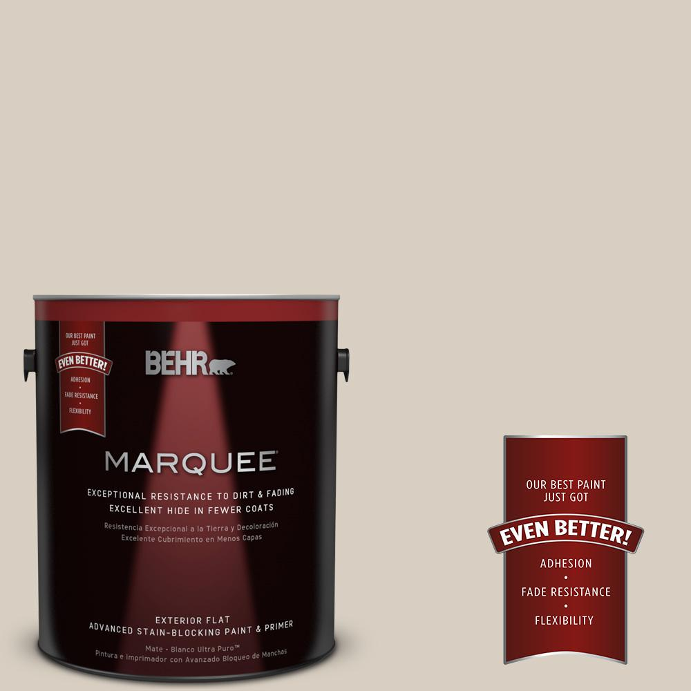 BEHR MARQUEE 1-gal. #PPU7-9 Aged Beige Flat Exterior Paint