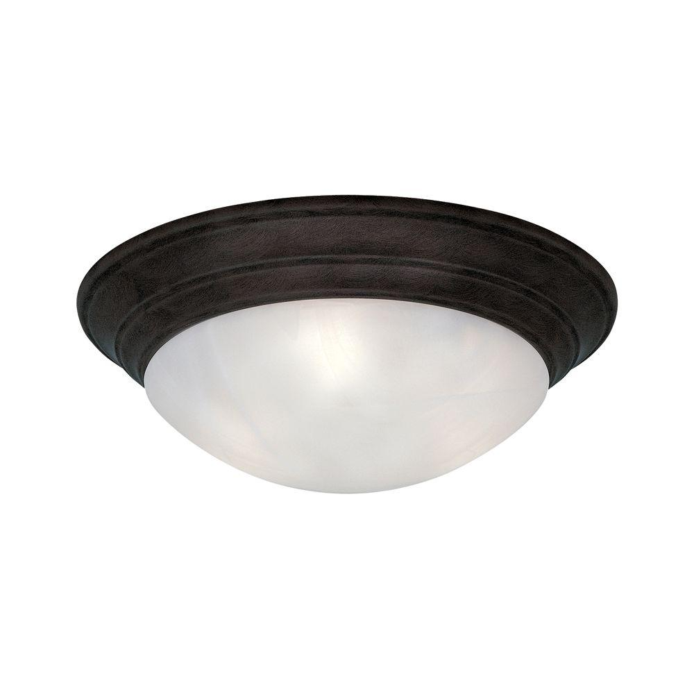 Clovis Collection 1-Light Oil Rubbed Bronze Ceiling Flushmount