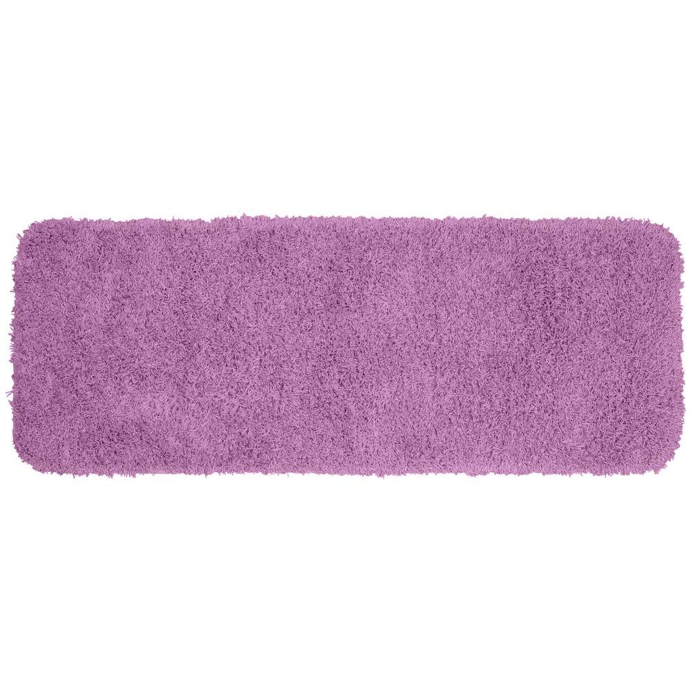 Garland rug jazz purple 22 in x 60 in washable bathroom for Rugs with purple accents