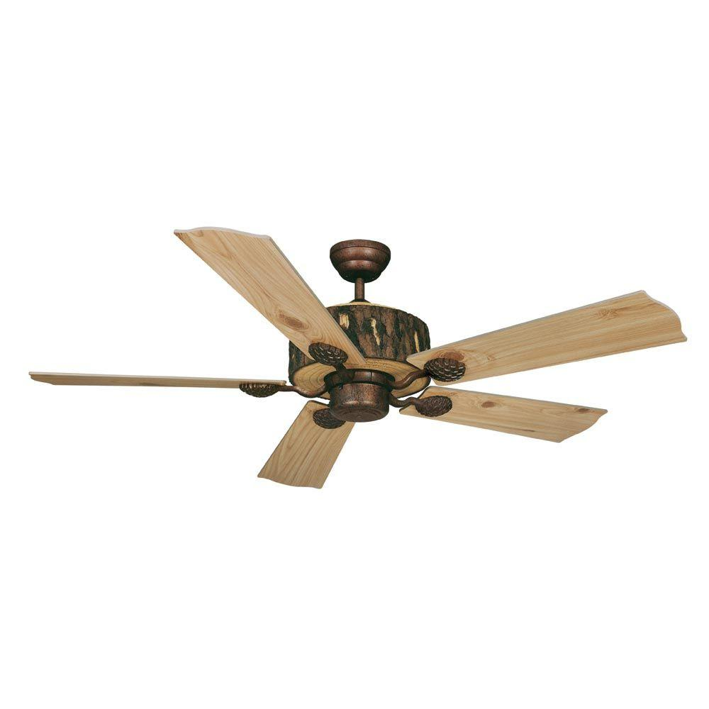 AireRyder Log Cabin 52 in. Weathered Patina Ceiling Fan