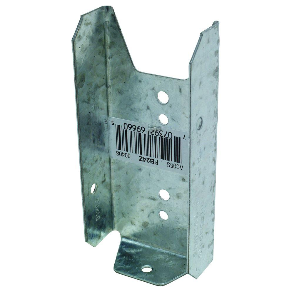 Simpson Strong-Tie FB 2 in. x 4 in. ZMAX Galvanized Fence Bracket
