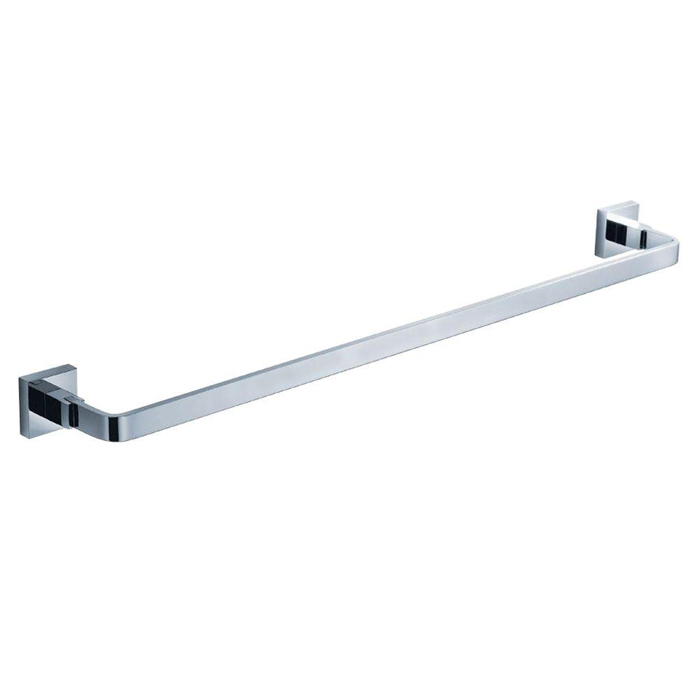 KRAUS Aura Bathroom 24 in. Towel Bar in Chrome