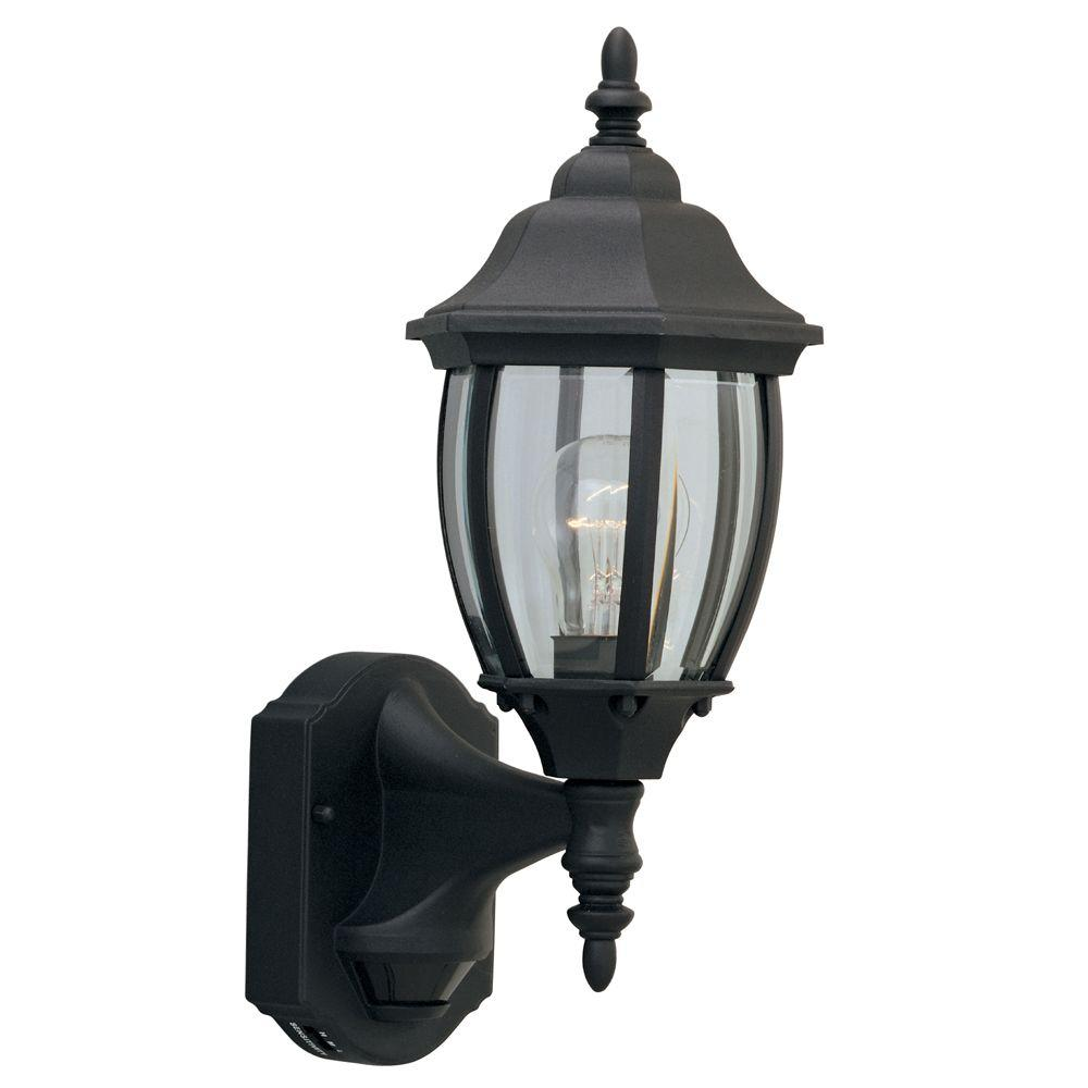 Designers Fountain Windsor Mill Collection Black Outdoor Wall-Mount Lantern