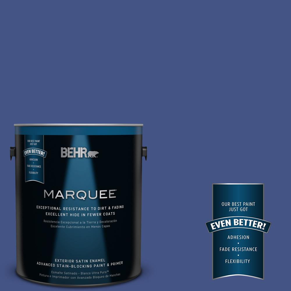 1-gal. #600B-7 Yacht Club Blue Satin Enamel Exterior Paint