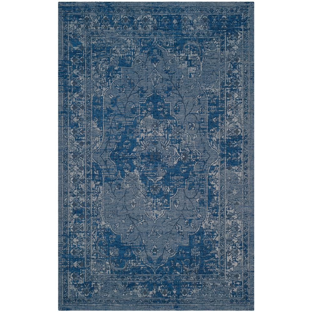 Palazzo Blue/Light Gray 5 ft. x 8 ft. Area Rug