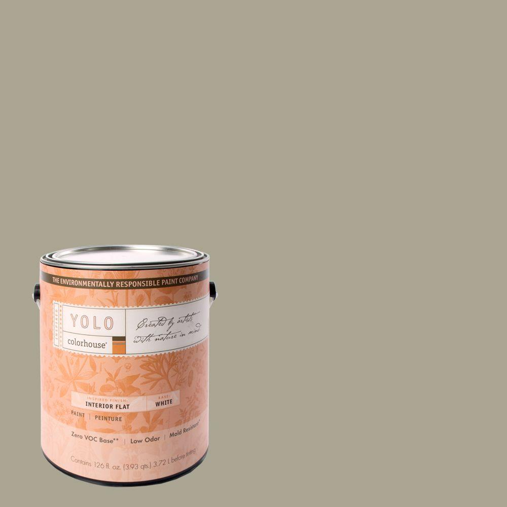 YOLO Colorhouse 1-gal. Stone .05 Flat Interior Paint-DISCONTINUED