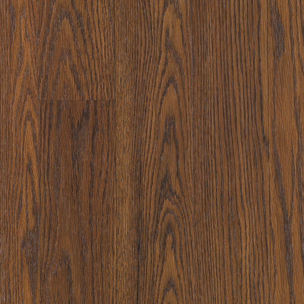Mohawk Bayhill Ginger Brown Oak Laminate Flooring - 5 in. x 7 in. Take Home Sample