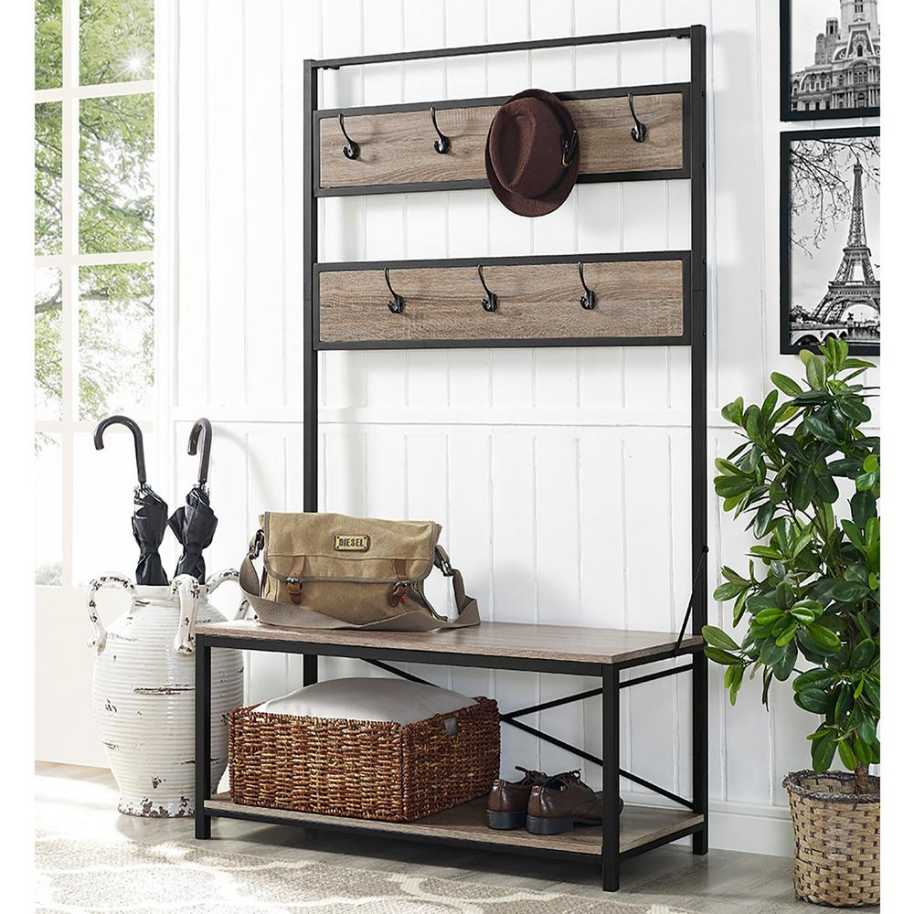 Walker edison furniture company industrial driftwood hall for Furniture companies