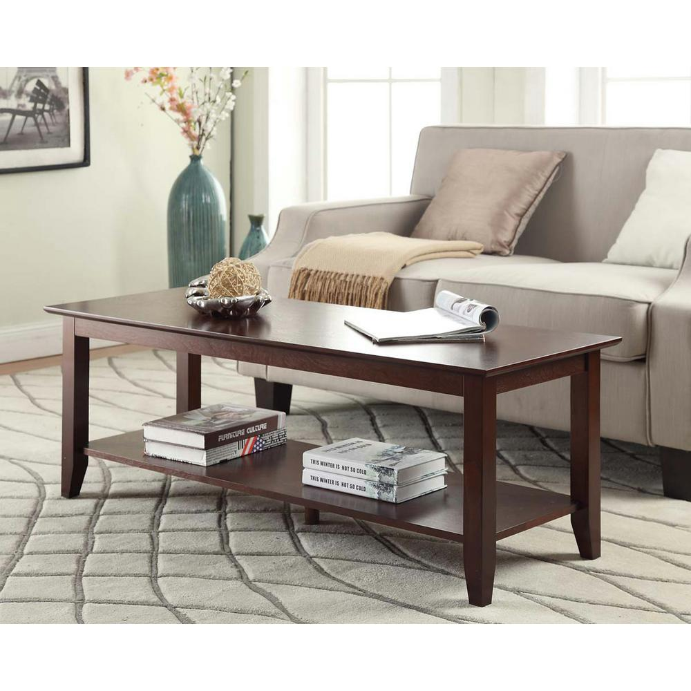 Home Decorators Collection Nailhead Espresso Coffee Table Ck6224 The Home Depot
