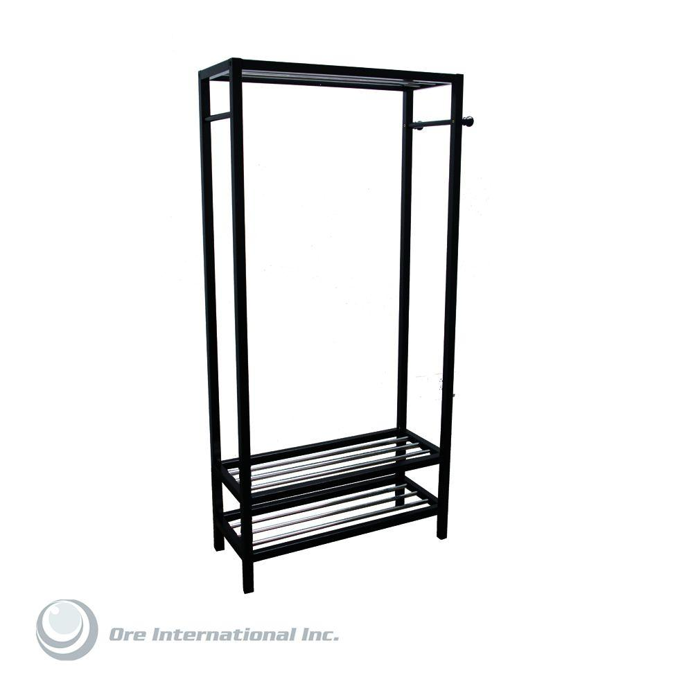 Home Decorators Collection Hanger and Shoe Rack Stand in Black