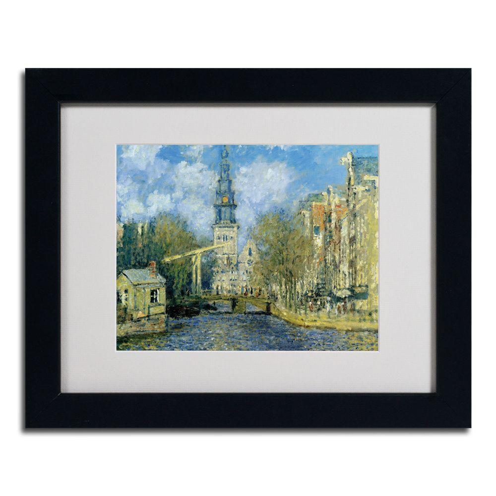 Trademark Fine Art 11 in. x 14 in. The Zuiderkerk at Amsterda Black Framed Matted Art