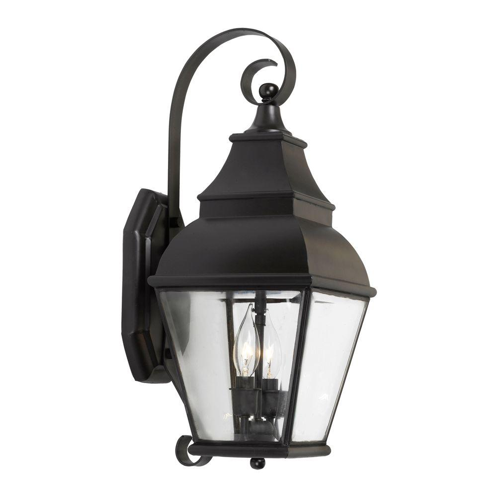 Titan Lighting Bristol 2-Light Wall Mount Outdoor Charcoal Sconce-TN-12048 - The Home Depot