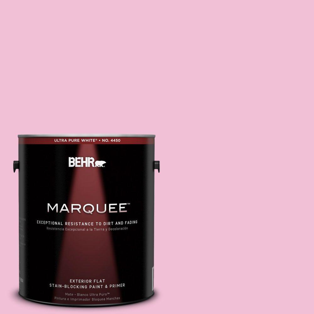 BEHR MARQUEE 1-gal. #100B-4 Pink Chintz Flat Exterior Paint-445001 - The