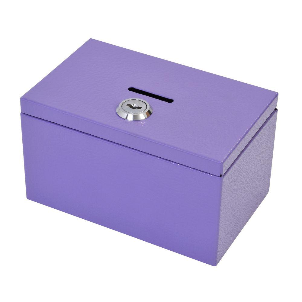 Stamp and Coin Box in Purple