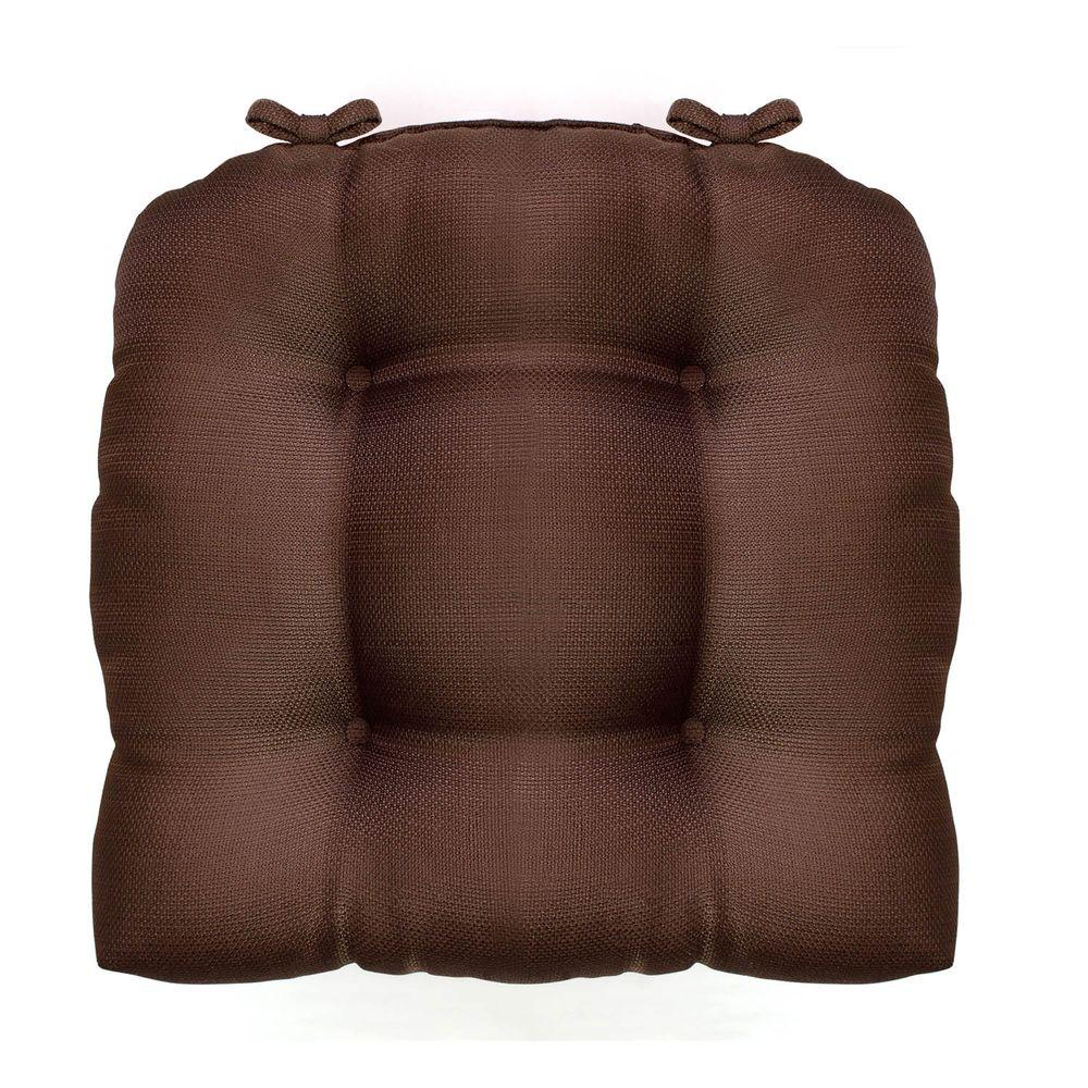 Madison 16 in. x 16 in. Chocolate Woven Cushioned Chair Paid