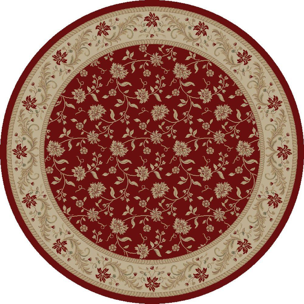 Imperial Serenity Red 5 ft. 3 in. Round Area Rug