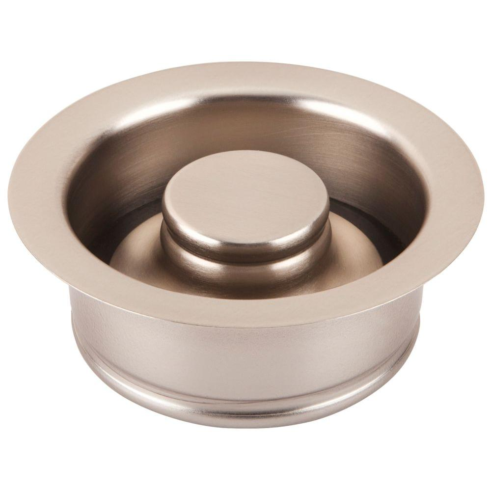 SINKOLOGY 3.5 in. Disposal Flange Drain with Stopper in Satin Nickel Finish