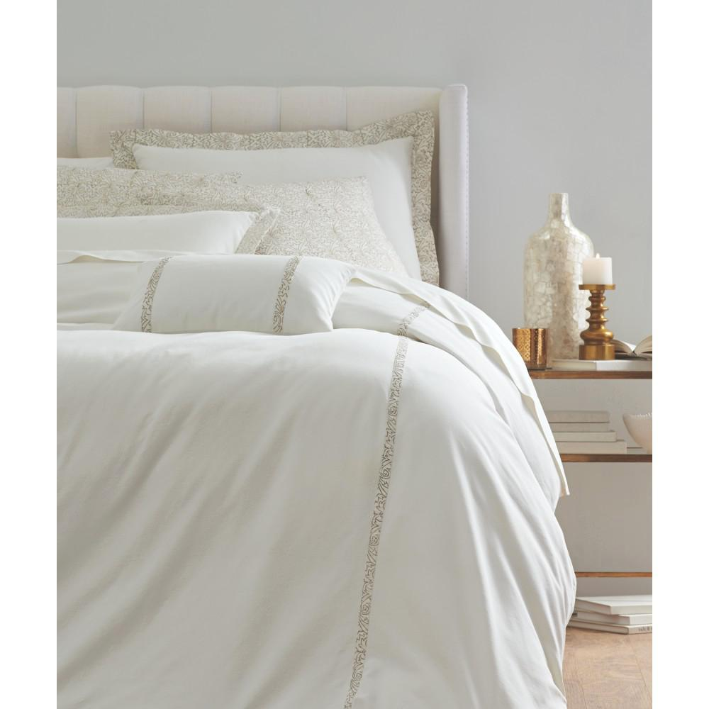 Roseclair White 6-Piece King Duvet Set