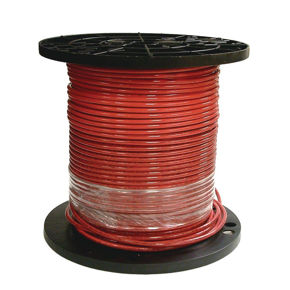 Southwire 500 ft. 8 Red Stranded CU THHN Wire-20490912 - The