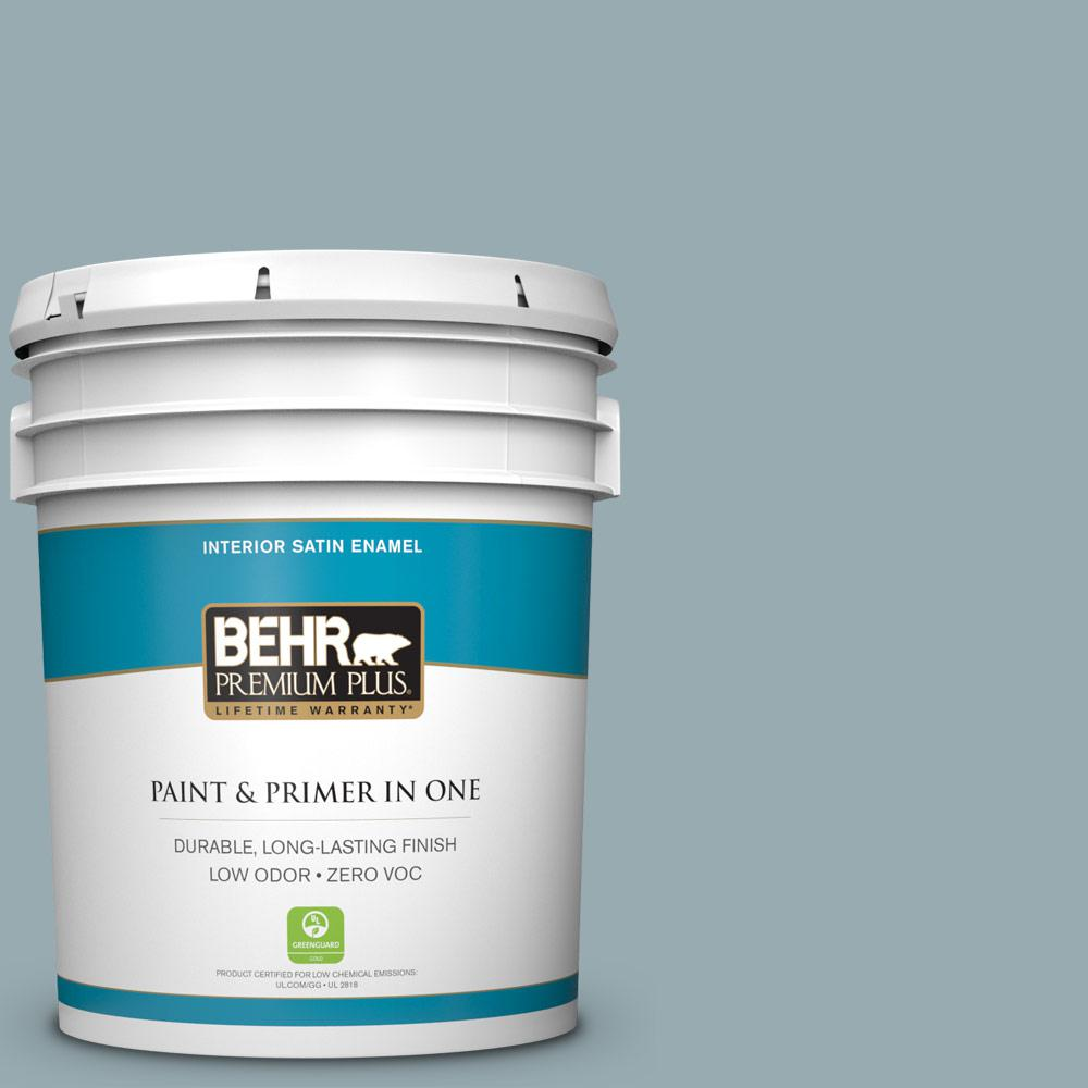 5-gal. #BXC-28 Bucolic Blue Satin Enamel Interior Paint
