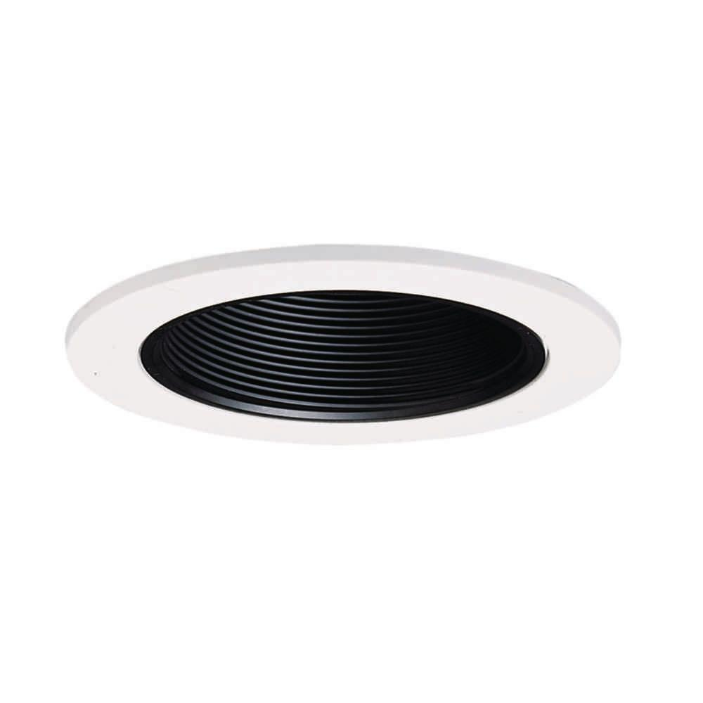 953 Series 4 in. Black Recessed Ceiling Light Trim with Baffle