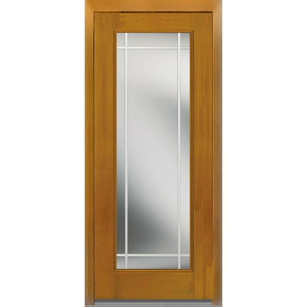 36 in. x 80 in. GBG Left-Hand Full Lite Classic Stained