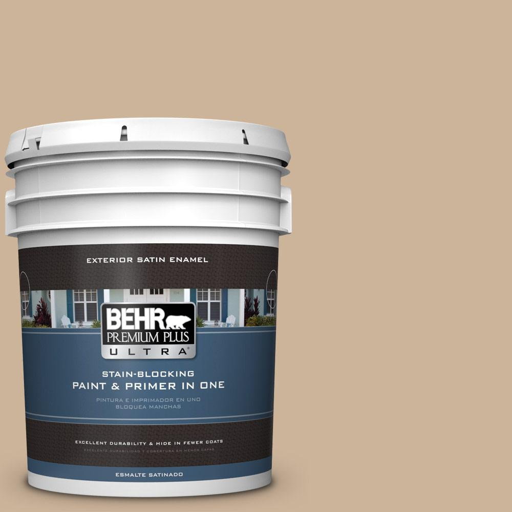 BEHR Premium Plus Ultra 5 gal. #T17-03 Sepia Filter Satin Enamel