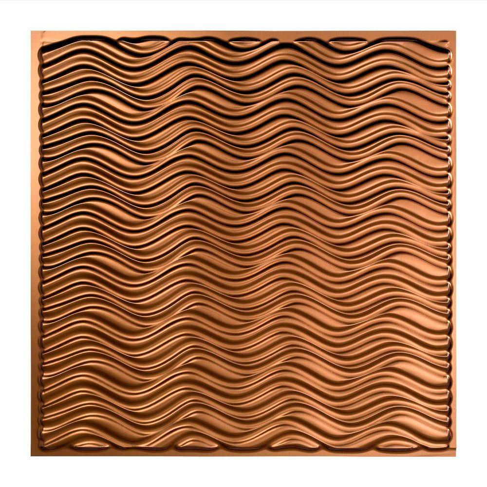 Fasade Current - 2 ft. x 2 ft. Lay-in Ceiling Tile in Oil Rubbed Bronze