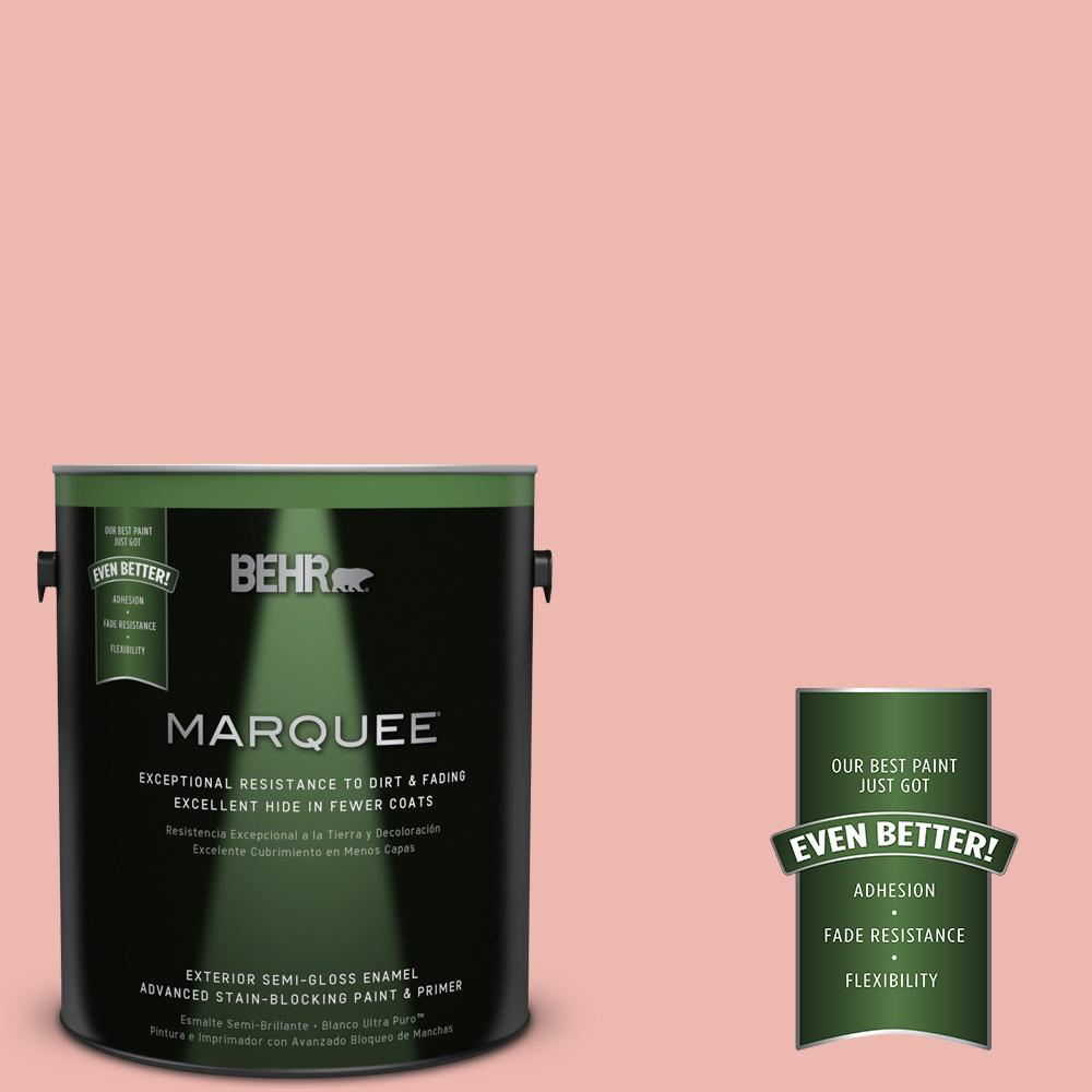 1-gal. #M170-3 Carnation Coral Semi-Gloss Enamel Exterior Paint