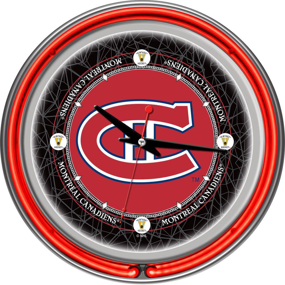 14 in. Vintage Montreal Canadiens NHL Neon Wall Clock
