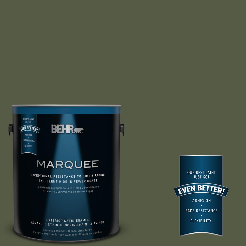 1-gal. #MQ6-54 River Forest Satin Enamel Exterior Paint