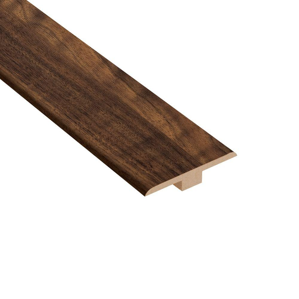TrafficMASTER Spanish Bay Walnut 6.35 mm Thick x 1-7/16 in. Wide x 94 in. Length Laminate T-Molding-DISCONTINUED
