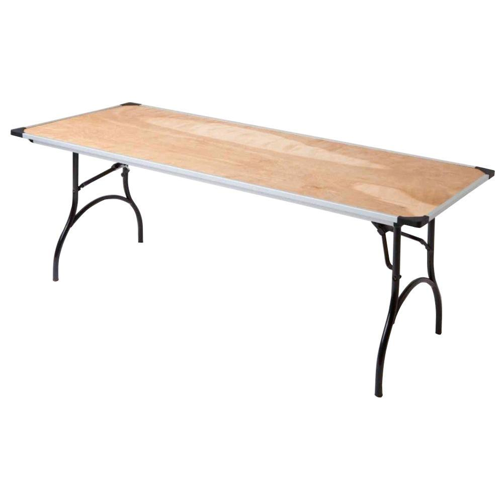 null 6 ft. Commercial Plywood Folding Table