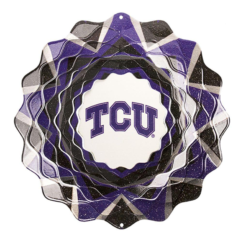 Iron Stop 10 in. Texas Christian University Collegiate Wind Spinner-DISCONTINUED