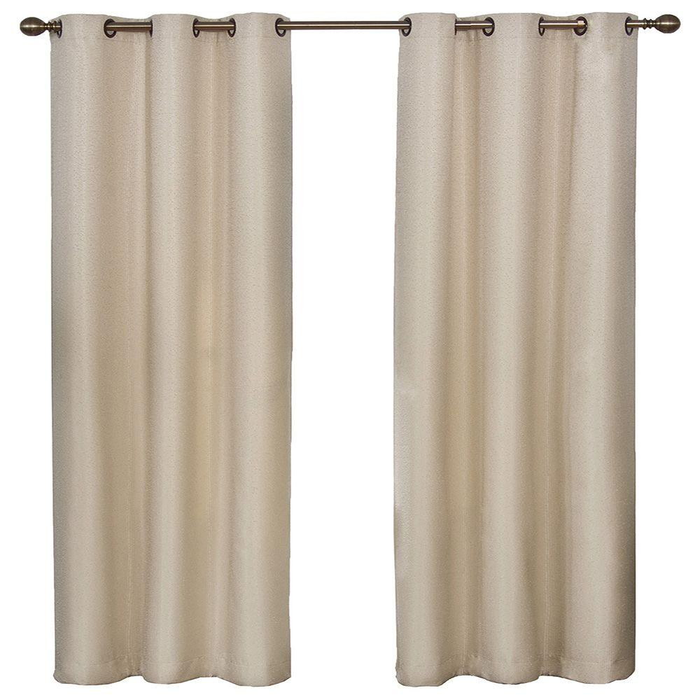 Thermal curtain liner - Blackout Madison Light Khaki Polyester Grommet Blackout Curtain 42 In
