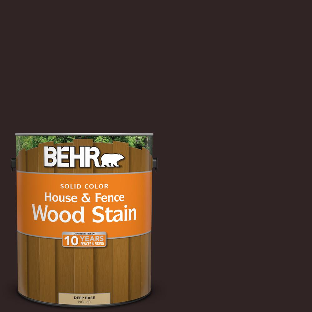 1 gal. #SC-104 Cordovan Brown Solid Color House and Fence Wood
