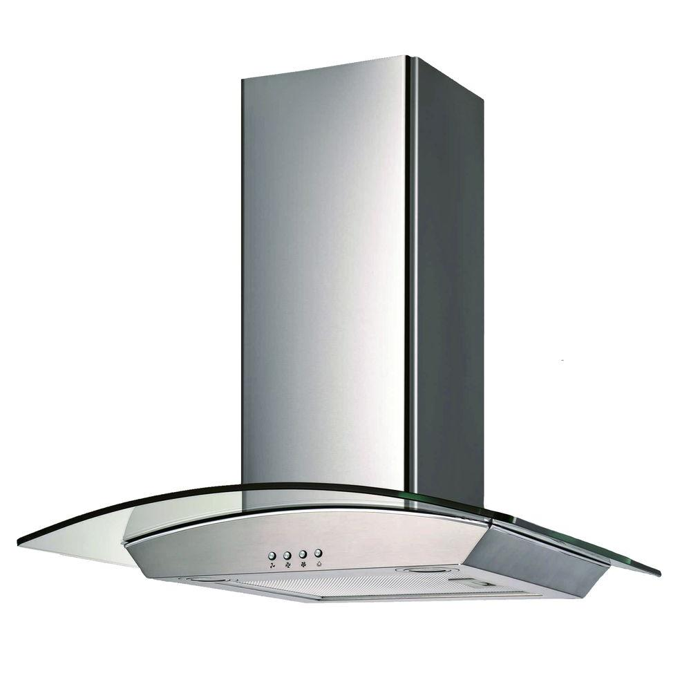 30 in. Wall Mounted Range Hood with a Stainless Steel Body