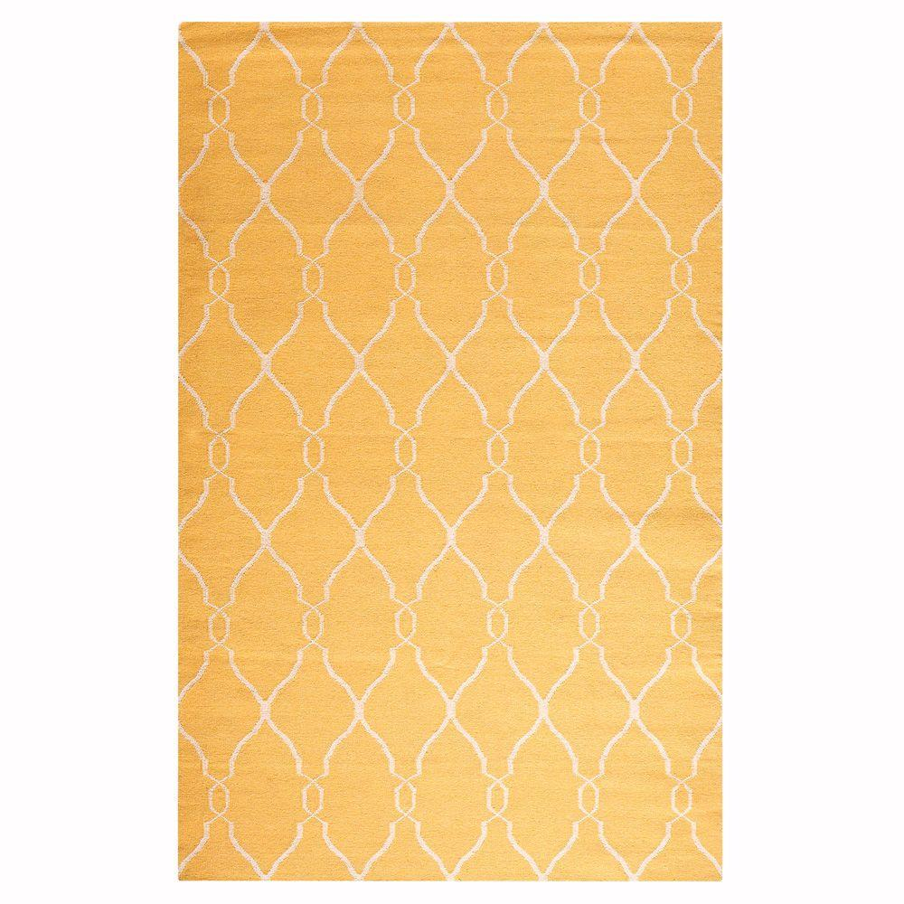Home Decorators Collection Argonne Yellow 9 ft. x 13 ft. ...