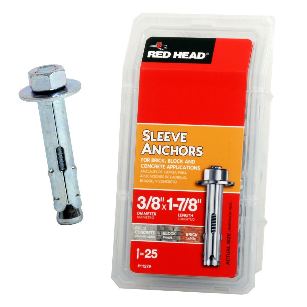 Red Head 3/8 in. x 1-7/8 in. Hex Sleeve Anchor (25-Pack)