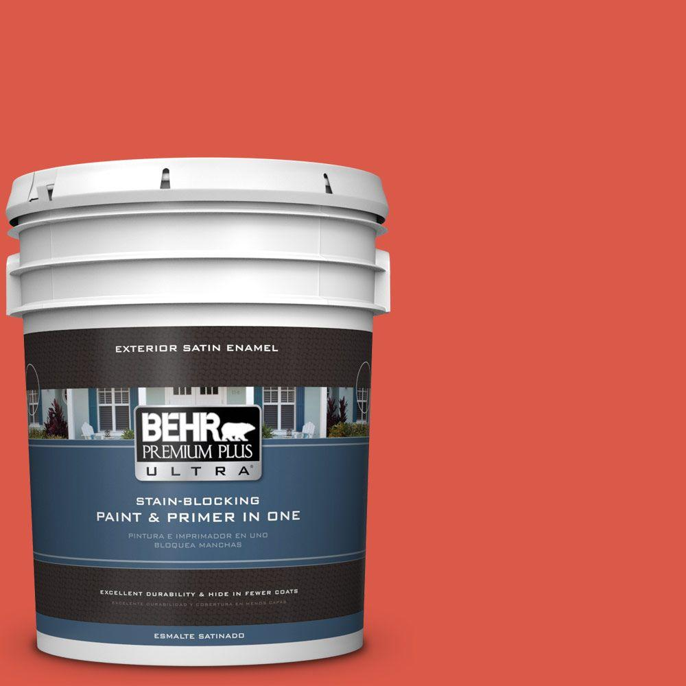 5-gal. #T12-7 Red Wire Satin Enamel Exterior Paint