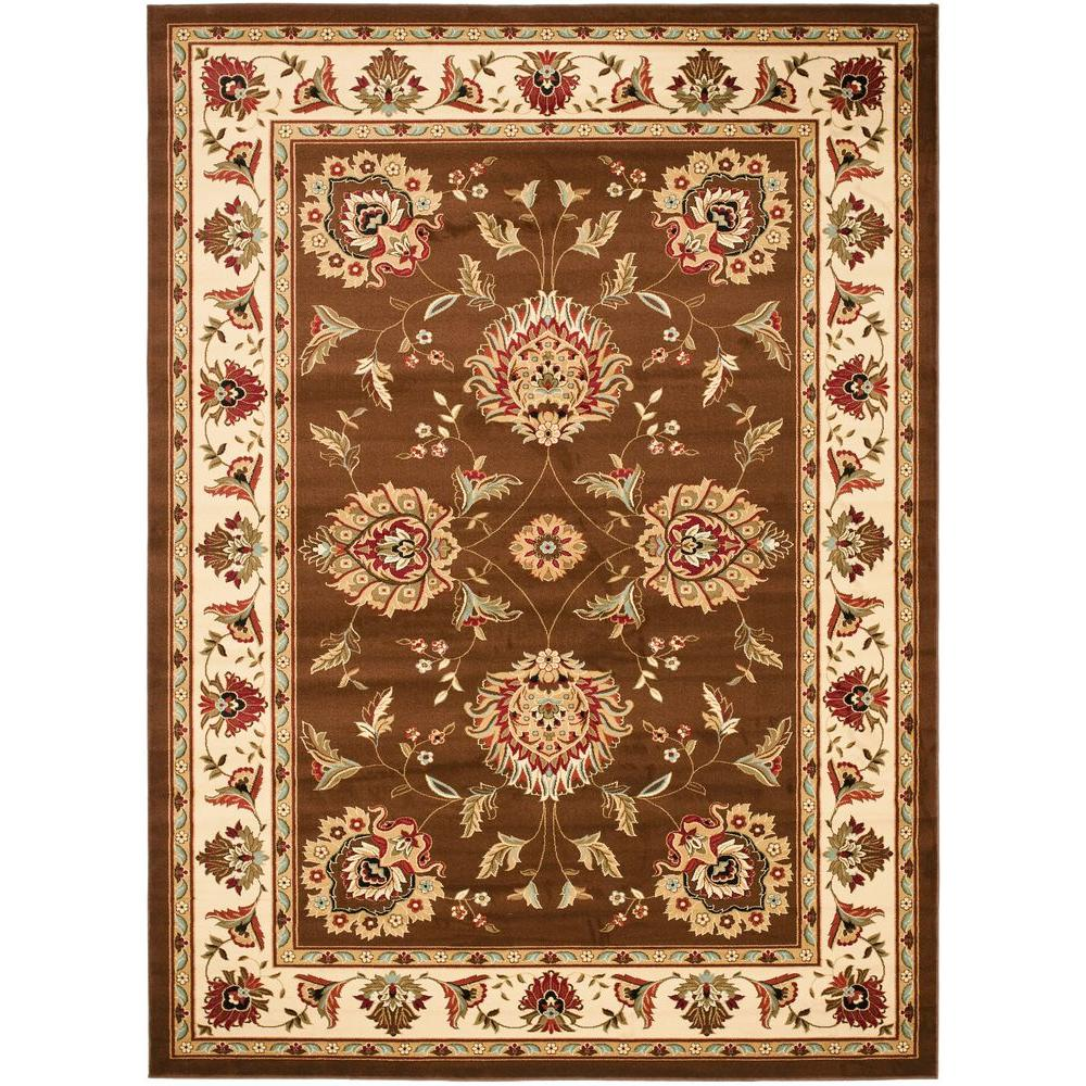 Lyndhurst Brown/Ivory 8 ft. 9 in. x 12 ft. Area Rug